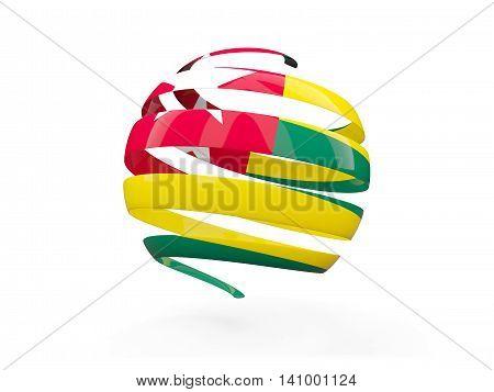 Flag Of Togo, Round Icon