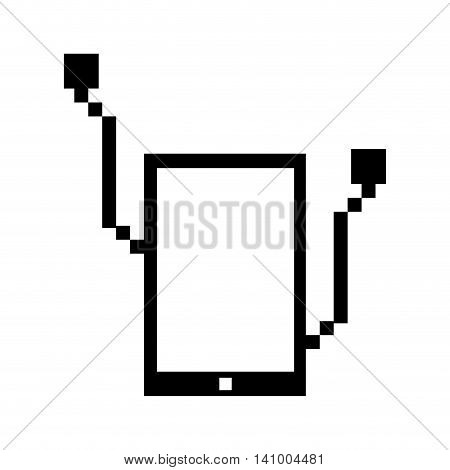 music player technology portable icon vector isolated graphic vector isolated design