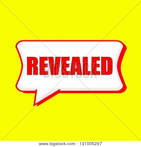 REVEALED red wording on Speech bubbles Background Yellow