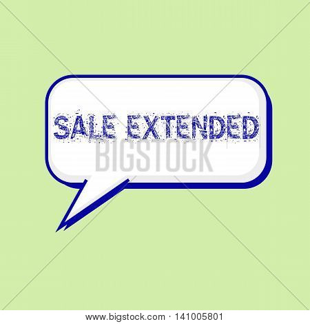 sale extended blue wording on Speech bubbles Background Green-White