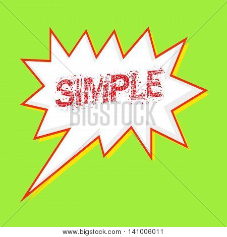 simple red wording on Speech bubbles Background Green-yellow