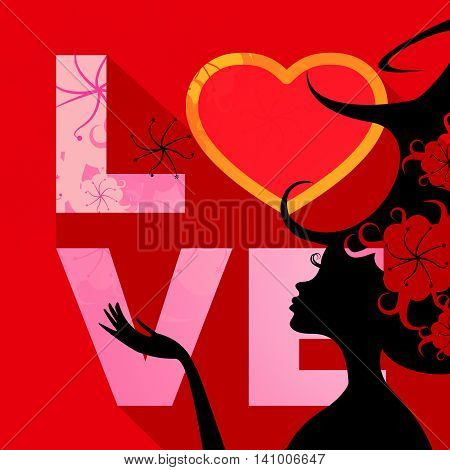 Love Word Indicates Compassion Dating And Passion