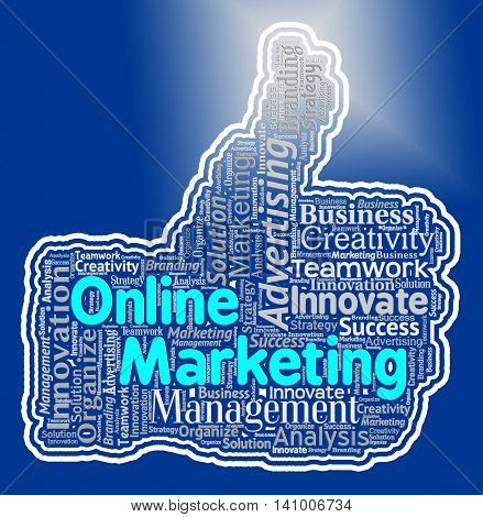 Online Marketing Thumb Shows Web Site And Advertising