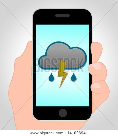Thunder Forecast Online Shows Mobile Phone And Thunderbolt