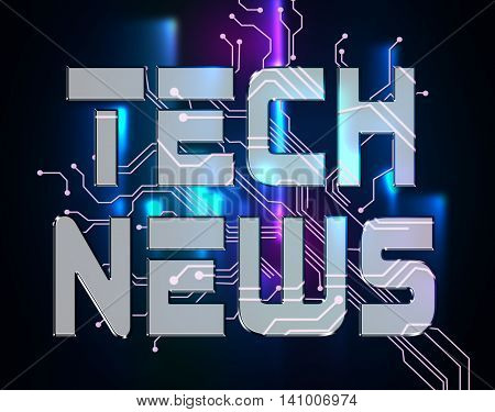 Tech News Shows Social Media And Electronics
