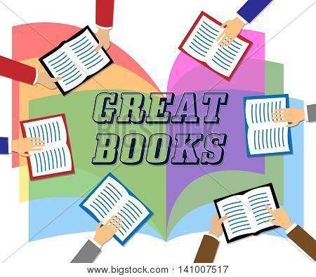 Great Books Indicates Agreeable Like And Wonderful