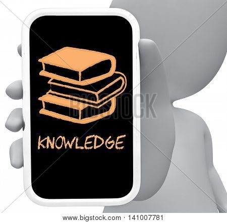 Knowledge Online Represents Mobile Phone And Comprehension 3D Rendering