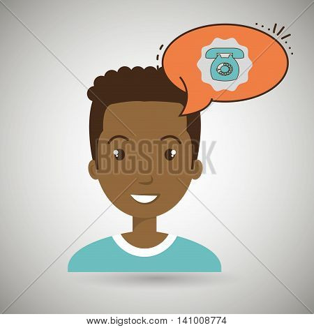man communication telephone bubble vector illustration eps 10