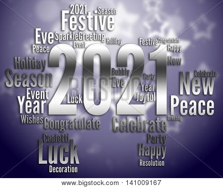 Two Thousand Twenty-one Means Happy New Year And Annual