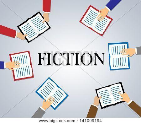 Fiction Books Represents Creative Writing And Education
