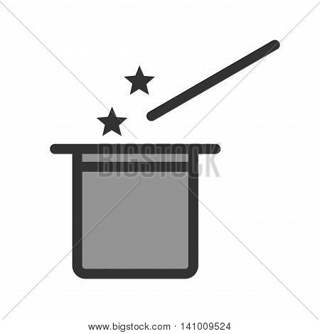 Magic, hat, show icon vector image. Can also be used for outdoor fun. Suitable for use on web apps, mobile apps and print media.