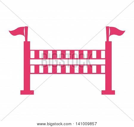 horseriding obstacle sport icon vector illustration icon