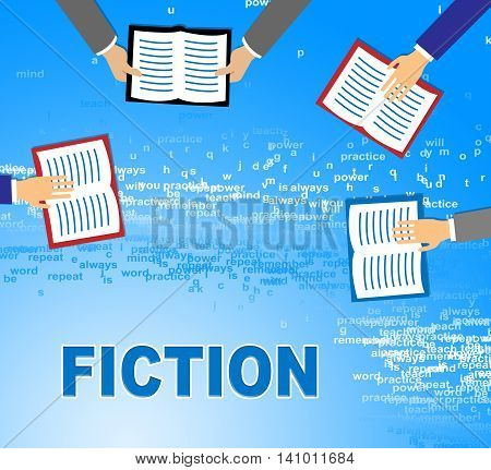 Fiction Books Shows Imaginative Writing And Education