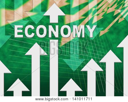 Economy Graph Indicates Micro Economics And Charts