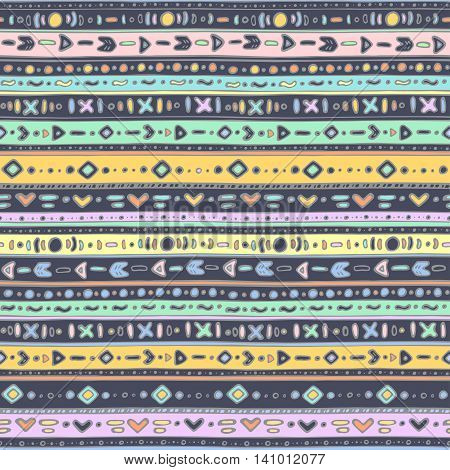 Seamless pattern - Multicolored ethno pattern EPS 8
