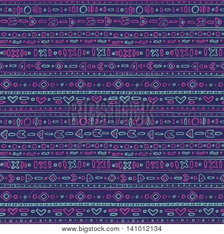 Seamless pattern - Cute ethno background EPS 8