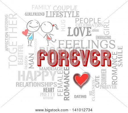 Forever Words Indicates Find Love And Always