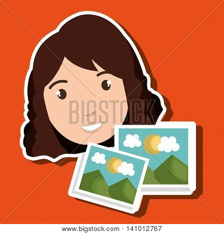 woman photo search graphic vector illustration eps 10