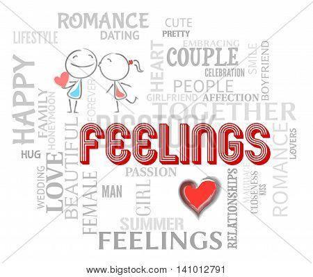 Feelings Couple Means Find Love And Affection