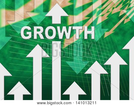 Growth Graph Shows Develop Gain And Trend
