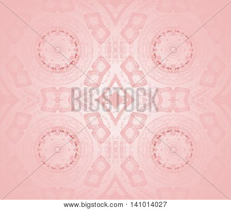 Abstract geometric seamless background. Shiny concentric circles and diamond pattern in pink shades, delicate and dreamy.