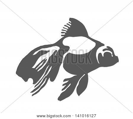 Fish silhouette logo symbol icon sketch illustration