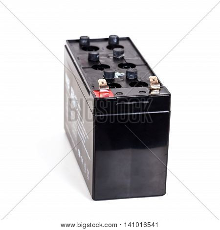 Open Sealed battery isolated on white background Seletive focus