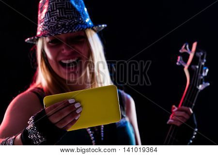 Woman Enjoing Live Music As She Was There