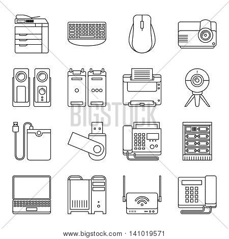 Electronics line icons. Electronic devices thin line vector signs