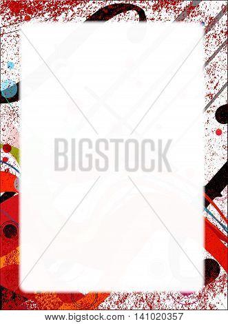 Violin closeup set on an abastract jazz grunge background