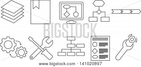 Icons for describing main process and basic concepts in enterprise architecture
