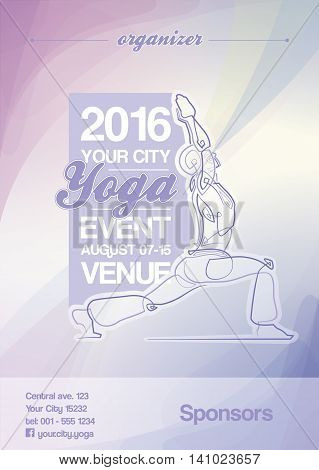 Yoga Event Poster Purple & Blue