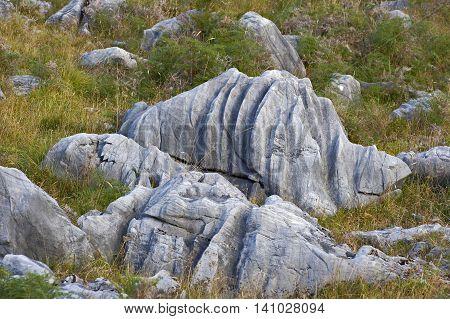 Eroded rocks Motueka surroundings South Island New Zealand