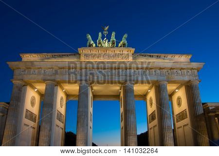Brandenburger Tor - Brandenburg Gate in Berlin night shot - Travel in Germany