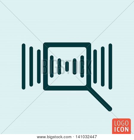Search magnifier icon. Magnifying glass symbol. Vector illustration