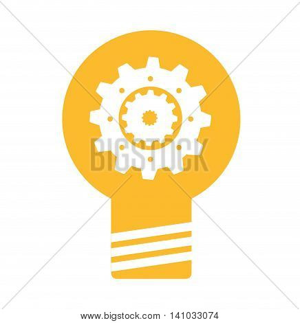 bulb light business isolated icon vector illustration design