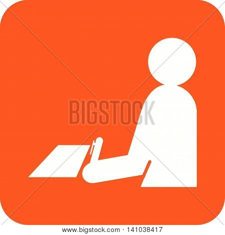 Test, taking, job icon vector image. Can also be used for employment. Suitable for use on web apps, mobile apps and print media.