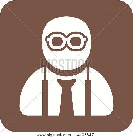 Nerd, glasses, style icon vector image. Can also be used for employment. Suitable for mobile apps, web apps and print media.