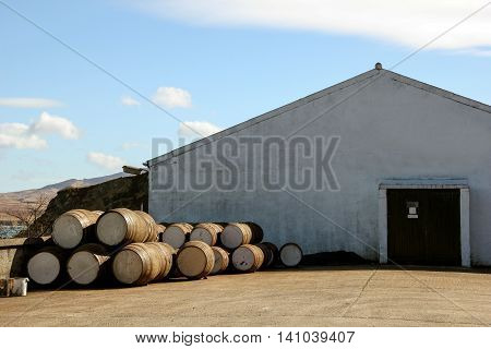 Malt Whisky Distillery on Isle of Islay Scotland
