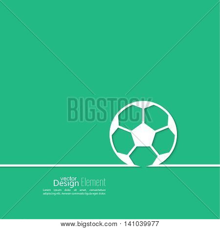 Vector icon of a soccer ball. football. Abstract background with vector image of a soccer ball in a thin line. layout for booklet, flyer, cover, preview, announcement, report.