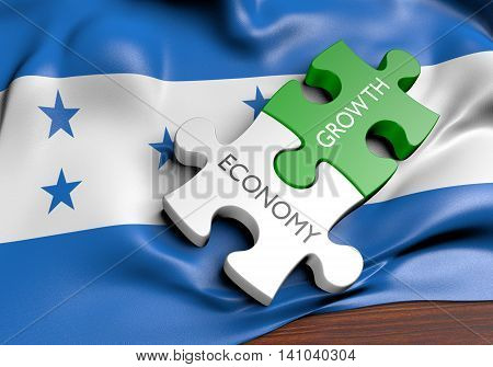 Honduras economy and financial market growth concept, 3D rendering