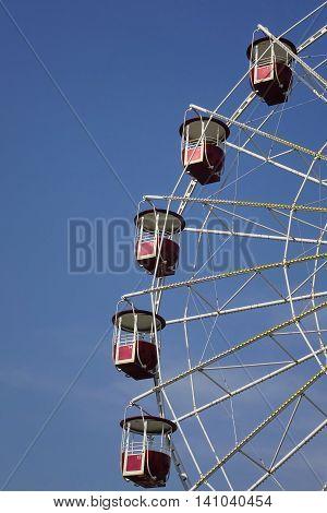 Empty Vintage Ferris Or Big Wheel Fragment