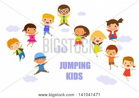 children jumping together