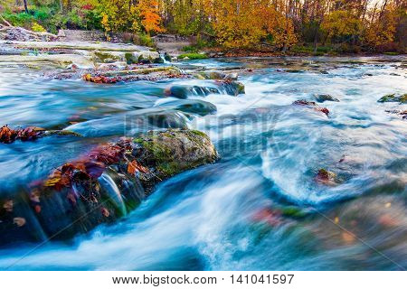 Hocking River with Autumn Color in Ohio