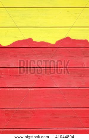 Bicolor Yellow Red Wood Paneling Texture Or Isolated Background With Abstract Pattern Vertical Image