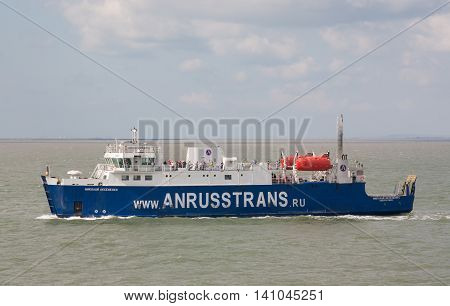 RUSSIA, KERCH 12, 2014: Car ferry service between Krasnodar region and the Crimea