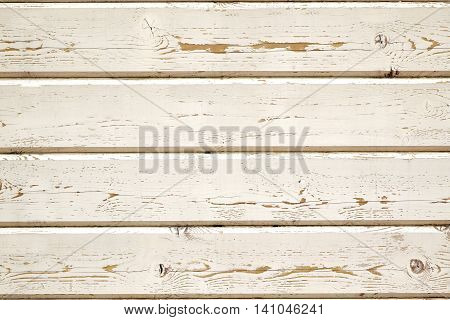 Obsolete Rough Wood Peneling From Weathered White Clapboards Background Texture