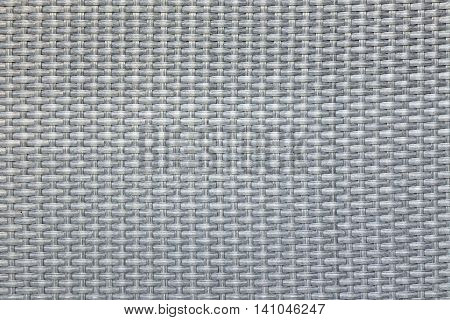 Grey Wicker Artificial Rattan Material Surface Texture Background