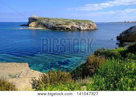 St Pauls Island, a small island off the north east coast of Malta.