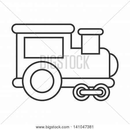 train transport toy isolated icon vector illustration design